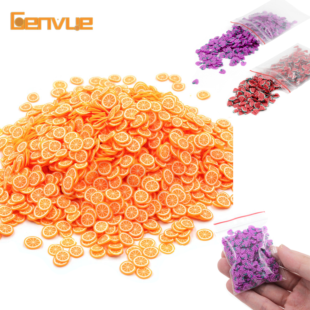 Fruit Fimo Fluffy Bead Addition Filler For Slime Accessories DIY Decoration Charms Clay Clound Sand Toys Filler Glitter Clear