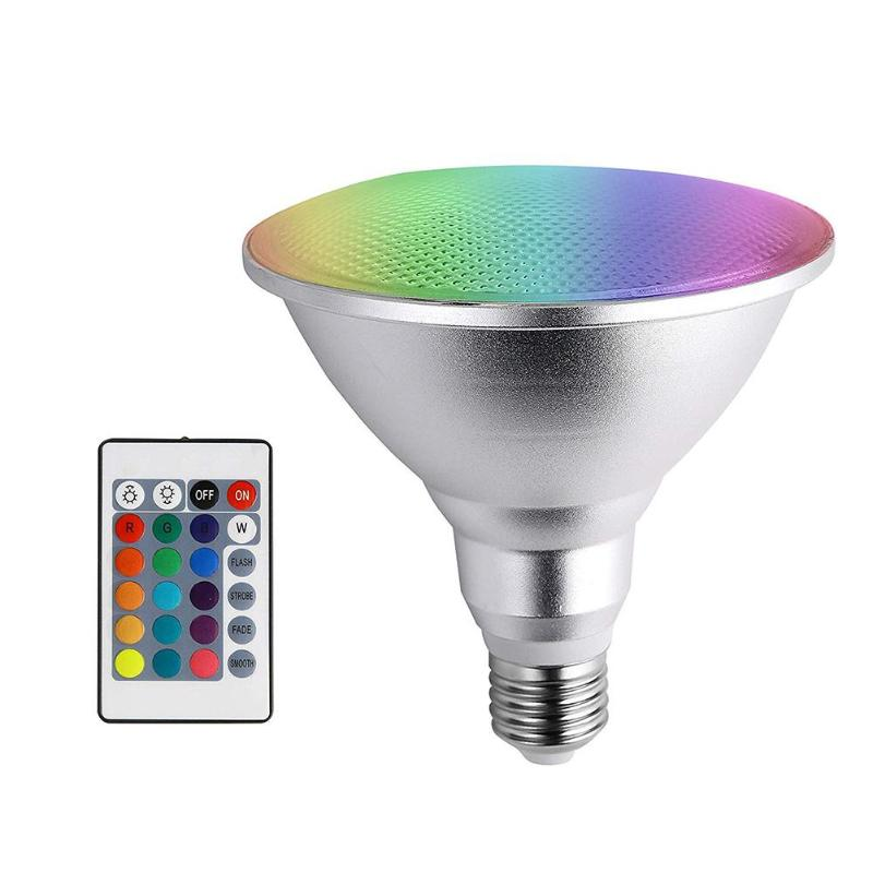 10W LED RGB Light Bulb 16 Colors Remote Control Indoor Party Bar Stage Lamp