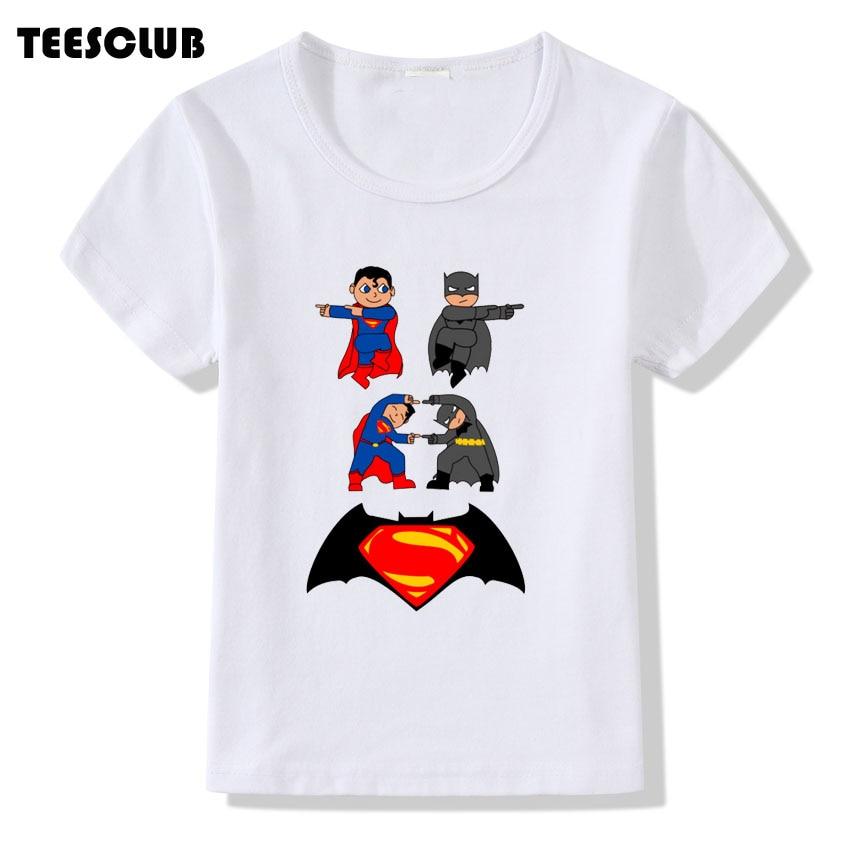 TEESCLUB Cool Superman Deadpool Mew Print T-shirt Children Kawaii Superhero Funny Tshirt Boy Girl Summer T-shirt Kid Top Shirt