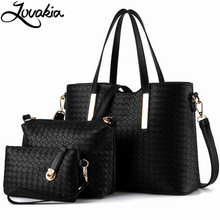3pcs Set Luxury Knitting Leather Bags Women Famous Brands Designer Casual Totes Female Shoulder HandBags bolsos