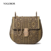 YOGOBOR 2017 PU Leather Women Messenger Bags Famous Designer Small Chain Shoulder Bag Ladies Vintage Saddle Bag Crossbody Bags