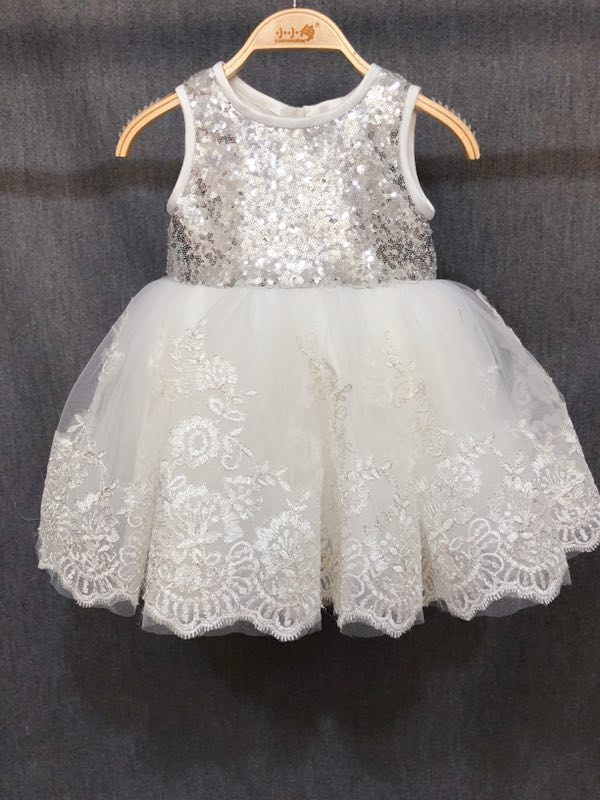 Real Photo Baby Mädchen Kleid Baby Taufe Outfits Perle