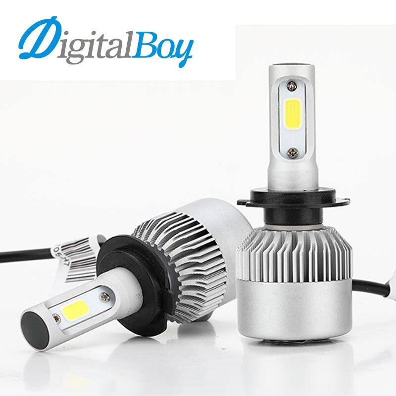 Brand New Car LED Headlight H7 Bulbs 60W 6000LM All in one LED Headlamp Fog Lamp Car Front Lights Single Beam 6000K White Color