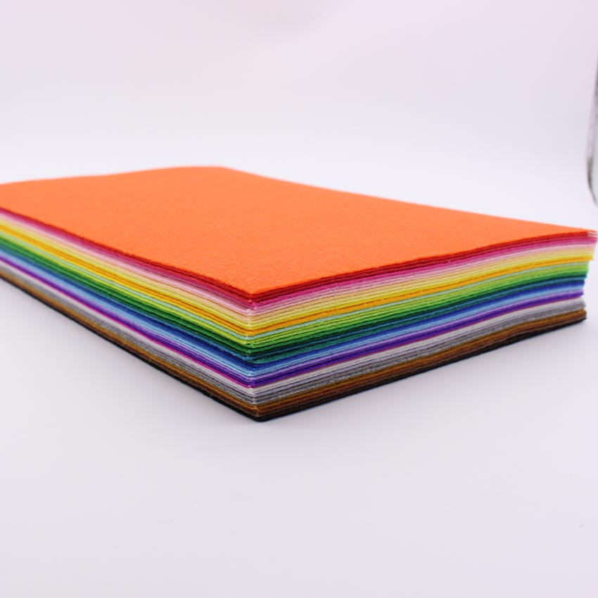 Cheap 43piece lot 30cm 20cm polyester nonwoven felt fabric for Cheap fabric material