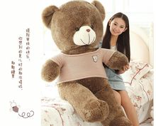 huge 160cm brown teddy bear plush toy dressed khaki coat bear doll soft hug pillow,Valentine's Day,Xmas gift c603
