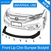 Carbon Fiber Surface/ Black Universal 3Pieces Car Front Lip Chin Bumper Body Kits Rotate The Angle New For Honda For BMW lips