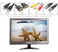 12 inch 1366*768 LCD HD Monitor Computer PC Display Color Screen 2 Channel Video In Security With Speaker HDMI VGA USB