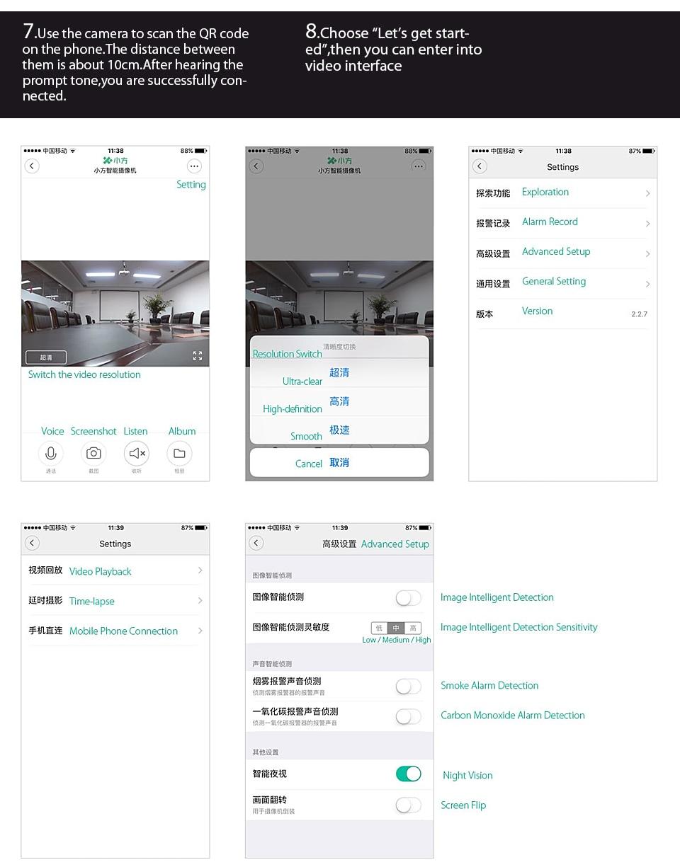 Original Xiaomi CCTV Mijia Xiaofang 110 Degree F2.0 8X 1080P Digital Zoom Smart Camera IP WIFI Wireless Camaras Cam Night Vision (5)