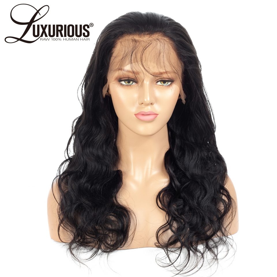 Luxurious Body Wave Silk Base Lace Front Human Hair Wigs Pre Plucked Brazilian Remy Hair 4x4