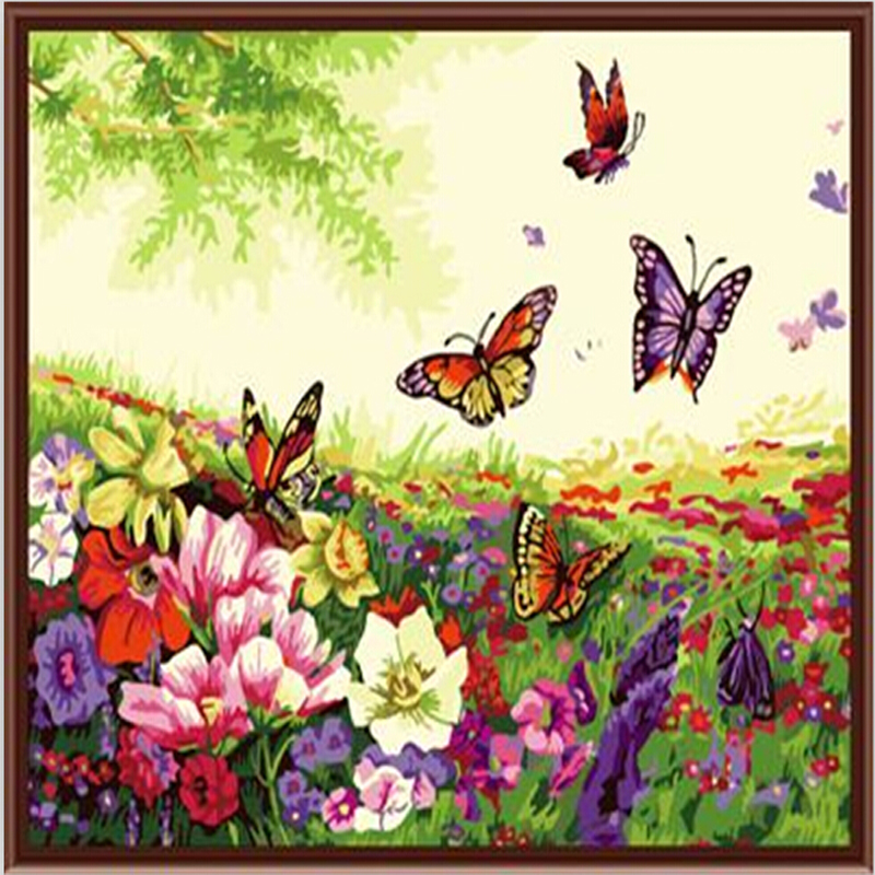 Compare Prices on Flower Paintings Acrylic- Online ...