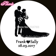 100pcs Custom Name and Date Decoration For Wedding Gifts Envelop