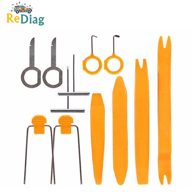 Hot 4/12pcs Kit Car Disassembly Tools Car DVD Stereo Refit Tools Interior Plastic Trim Panel Dashboard Installation Removal BX