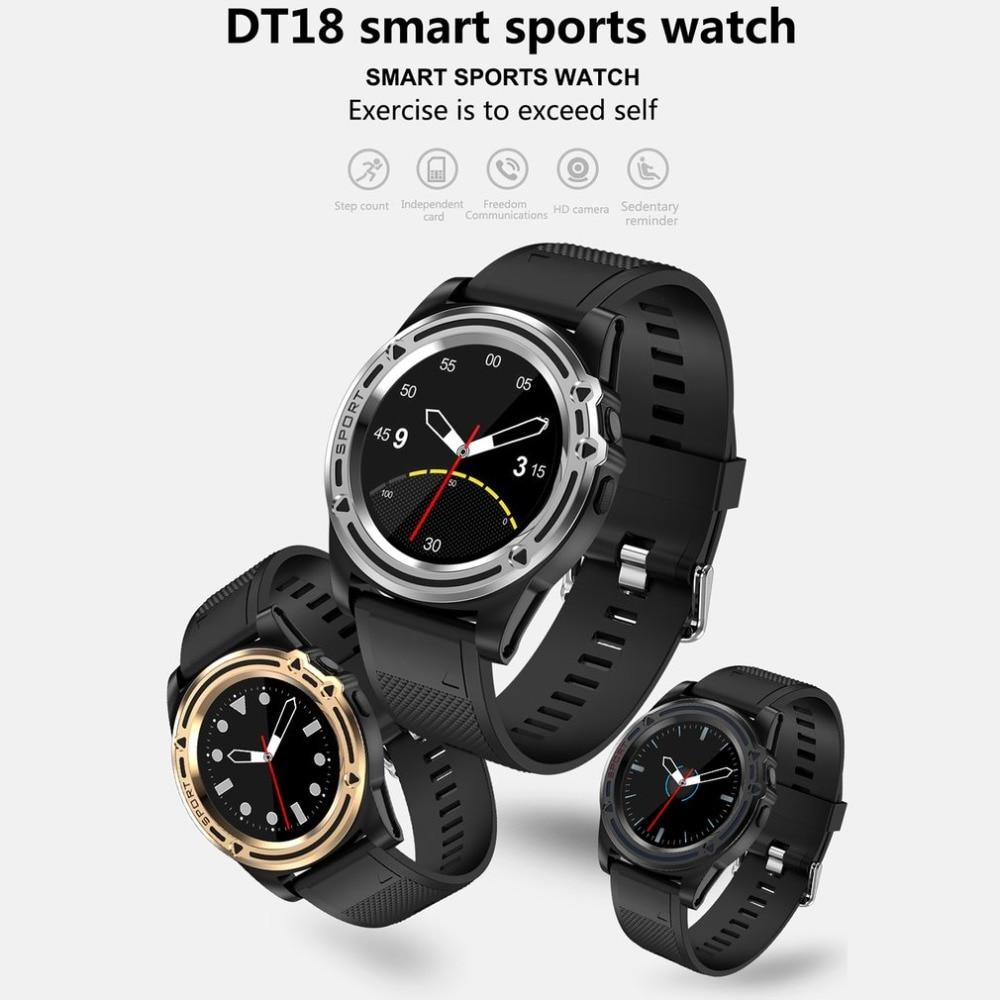 Fitnessgeräte Gehorsam 2018 Farbe Bildschirm Smart Armband Dt18 0.3mp Kamera Schlaf Überwachung Übung Schritt Armband Outdoor Sport Uhr Für Android Ios Ohne RüCkgabe
