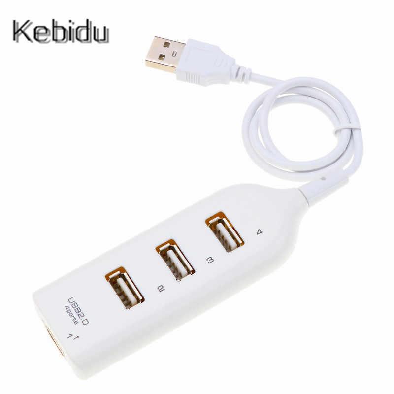 KEBIDU Hub адаптер usb-концентратор мини USB 2,0 Hi-Скорость 4-Порты и разъёмы разветвитель для портативных ПК Тетрадь приемник компьютер для офиса аксессуары