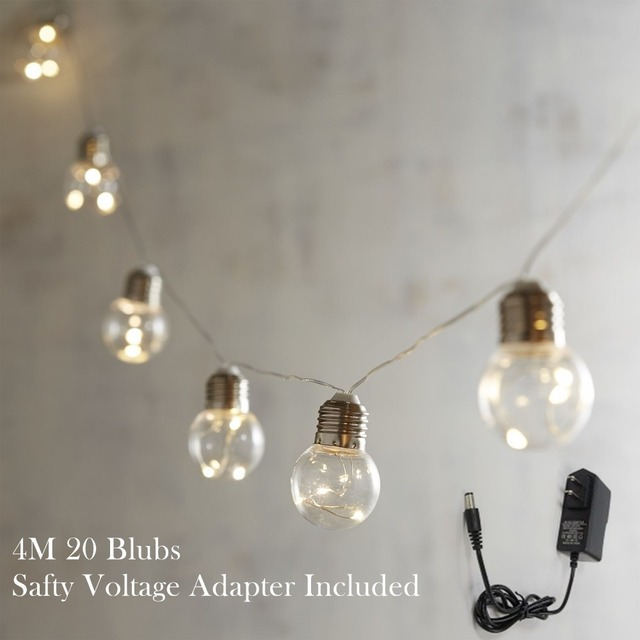 4m Led Bulb Globe String Lights With Led Wire Bulb Lights For Indoor