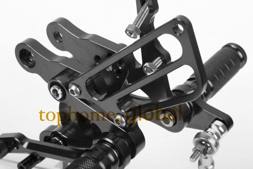 Motorcycle Parts Black CNC Rearsets Foot Pegs Rear Set For HONDA CBR400 NC23/NC29 1993-1994 1995 1996 1997 1998 1999