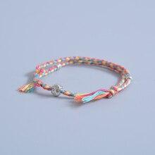 Tibetan Buddhist Lucky Woven Amulet Cord Bracelets & Bangles For Women Men Handmade Rope Buddha Anklet Bracelet