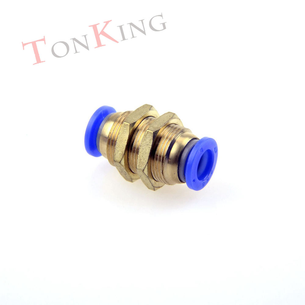 Pneumatic fitting quick connector Bulkhead Straight PM series Pneumatic Fitting For PU nylon Hoses 1 pack Air Connector 1 pc 3 4 german style double bass bow snake wood white bow hair 4003