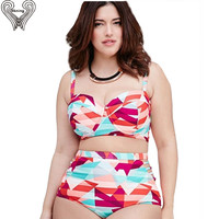 Plus Size Swimwear Large Size Swimwear Plus Size Bathing Suit 2017 Summer Bikini High Waist Swimsuit