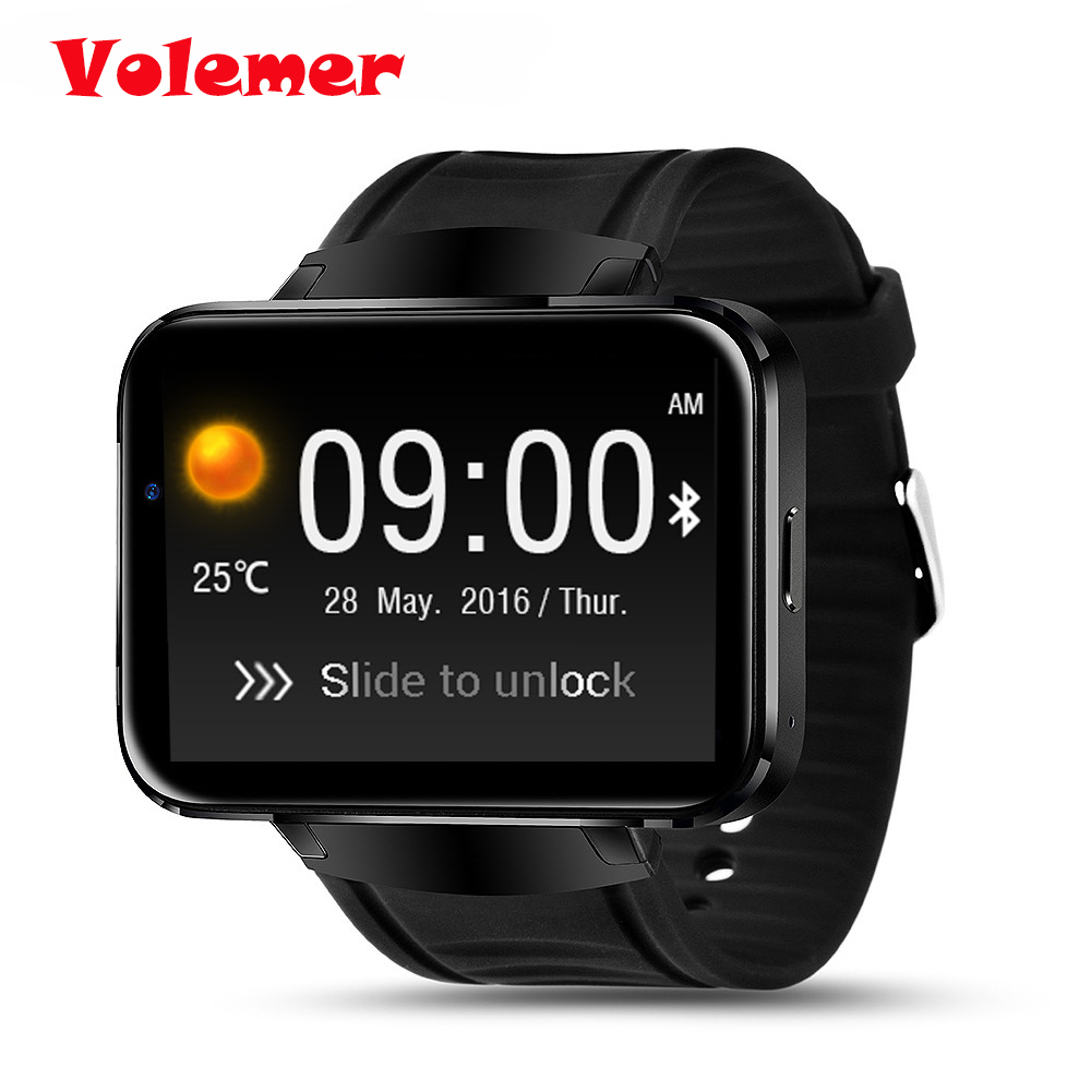 Volemer Hot DM98 Bluetooth Smart Watch 2.2 inch Android OS 3G Smartwatch Phone RAM512MB+ROM4GB Support Camera GPS Sim card Wifi zgpax s5 watch smart phone dual core 1 54 inch capacitive touch screen android 4 0 512mb ram 4g rom 2mp camera with gps silver black
