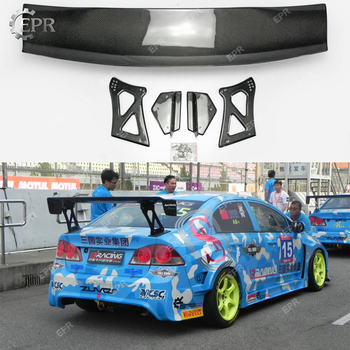 Carbon Voltex GT Wing Lip For Civic FD2 Carbon Fiber Rear Spoiler Body Kit Tuning For Civic FD2 Racing Trim Part Trunk Wing