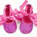 2016 Hot Pink Glitter Zapatos Del Bebé Lindo Arco Bebés carter baby girl Nupcial boda acdorable fantasía Primeros Caminante