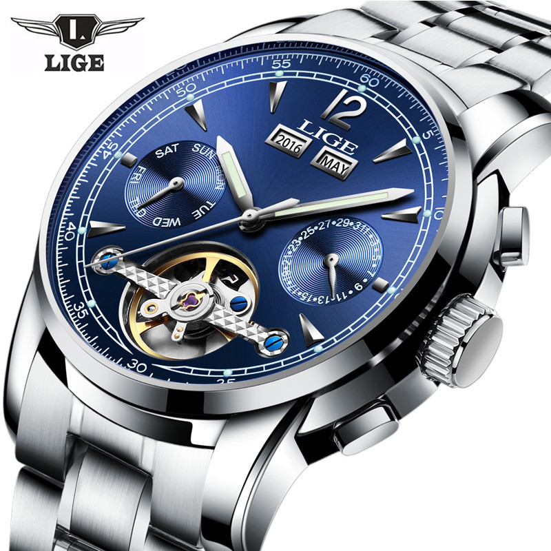 Relojes LIGE Male Automatic mechanical Sport Watch Men Luxury Brand Casual Watches Men's Wristwatch army Clock relogio masculino famous brand fngeen role luxury mechanical watch men sport automatic watches self wind nylon strap wristwatch male clock sports