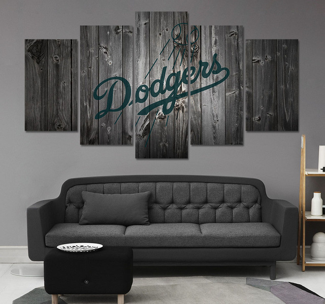 HD Print Baseball Los Angeles Dodgers Fans Painting on canvas wall art picture modern home decor & HD Print Baseball Los Angeles Dodgers Fans Painting on canvas wall ...