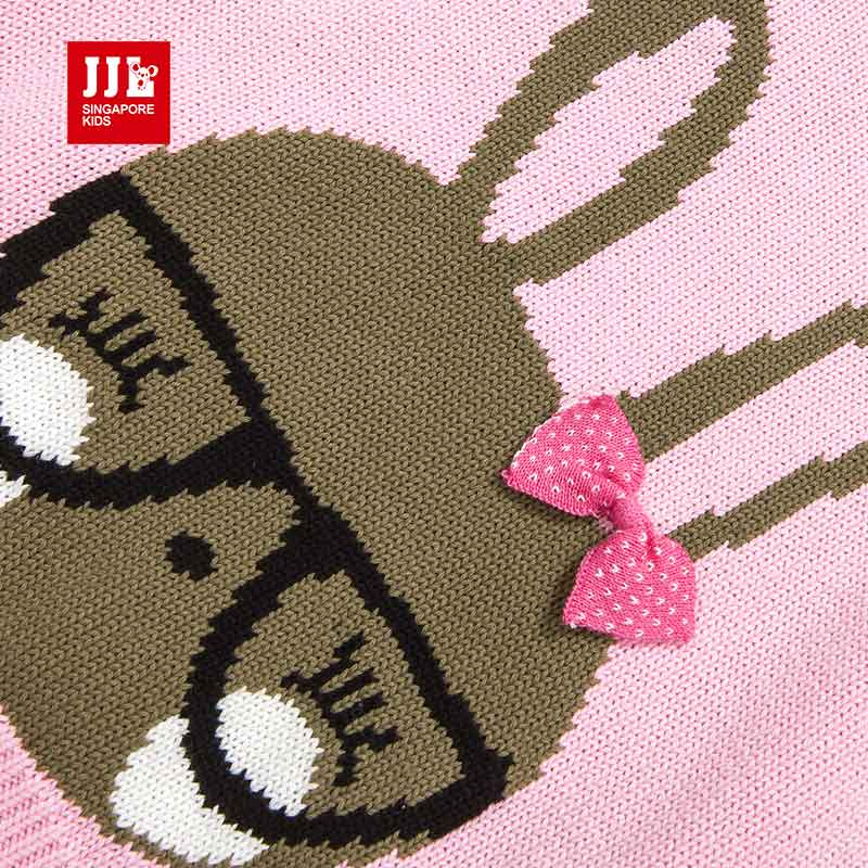 21dc8d9feb0a47 girls sweater 100% cotton knitted sweater for children clothing pullover  cutr rabbit design kids autumn clothes size 4 11Y-in Sweaters from Mother    Kids on ...