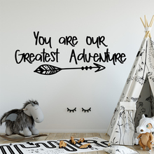 Exquisite sentence Removable Pvc Wall Stickers For Living Room Kids Decoration