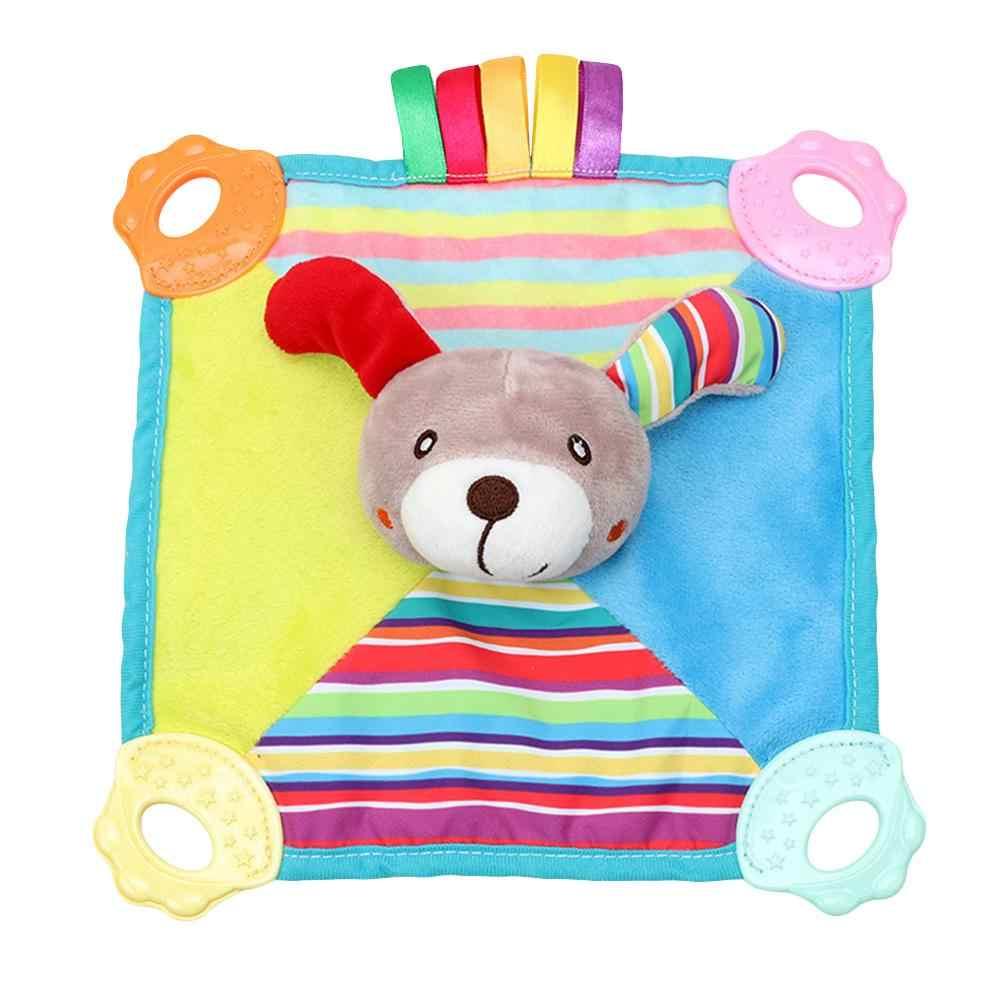 Детское нежное полотенце с рисунком животных из мультфильма для От 0 до 1 года, устойчивая к укусам, вокальная утешительная кукла, безопасная ткань, детские игрушки