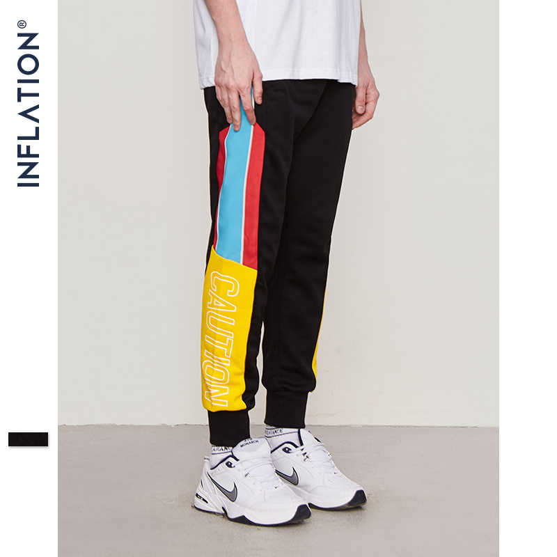 INFLATION 2019 High Street Elastic Waist Sweatpants Skinny Jogger Side Stripe Vintage Track Cargo Pants Brand Trousers 8852W