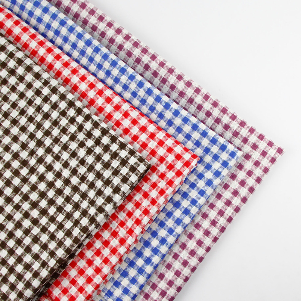 Exceptional 50cmx150cm Check Print Fabric Linen Cotton Fabric Cloth DIY Table Cloth  Collection Plain Curtain Material 4 Colours