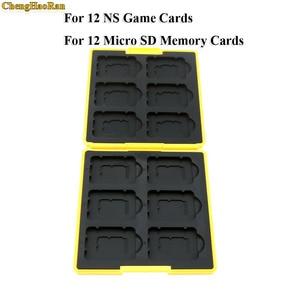 Image 3 - 1x Premium Su Geçirmez Anti Şok Oyun Kartı saklama kutusu için Nintend için Anahtarı 12 NS Oyun Kartları ve 12 Mikro SD Bellek Kartları