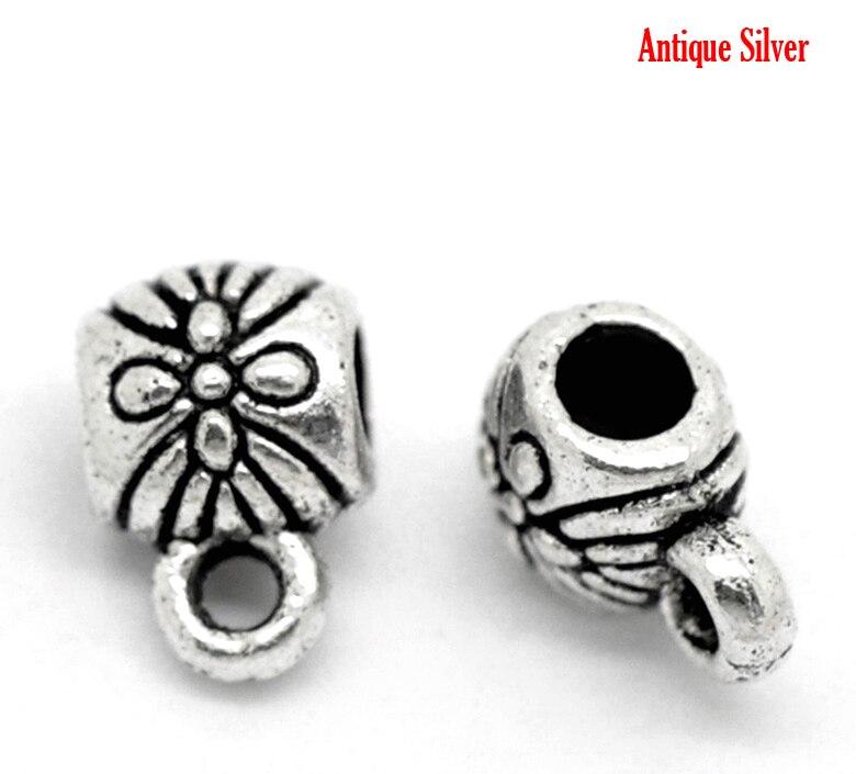 Tibétain Argent Cuivre Plaqué Fleur Spacer Perles 8 mm x 3.5 mm Packs De 25 50 100
