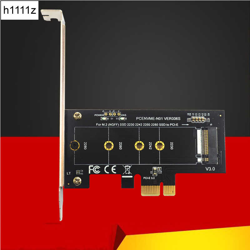 H1111Z Add On Cards PCIE to M2 Adapter PCI Express 3.0 x1 to NVME SSD M2 PCIE Raiser Adapter Support 2230 2242 2260 2280 M.2 SSD