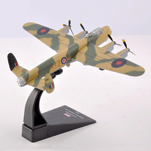 1/144 Aircraft Toy United Kingdom 1945 Avro Lancaster BI Fighter toy Airplane Model Collection Kids Toys
