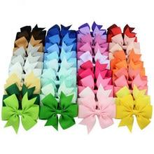 40 pçs/lote Corda Fita de Gorgorão Grampos de Cabelo para Crianças Grampos de cabelo Acessórios Para o Cabelo Natal Arcos de Cabelo Com Grampos Menina do Cabelo Laços