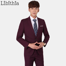 Libithia мужской повседневный Блейзер Куртки XS-4XL на одной пуговице две пуговицы Всесезонная одежда мужская