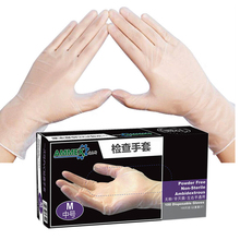 100 Pcs/Box Disposable Transparent Work Gloves Food Processing Cleaning Gloves Laboratory Medical Inspection Beauty Hand Gloves 100 pcs medical purple nitrile disposable gloves strong home cleaning disposable food gloves cleaning gloves