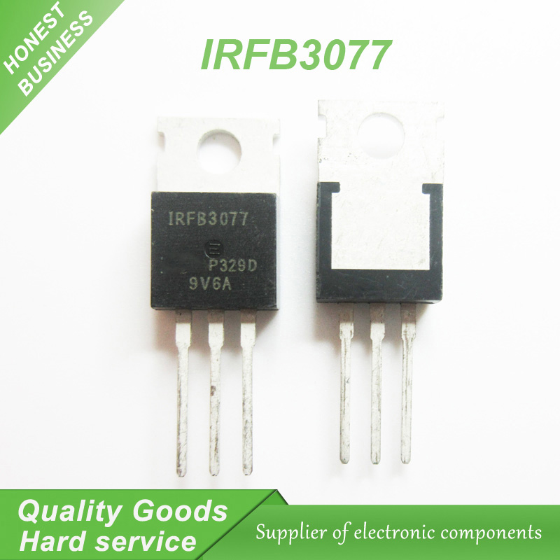 Free Shipping 10pcs/lot IRFB3077 TO-220 75A 210A New Original