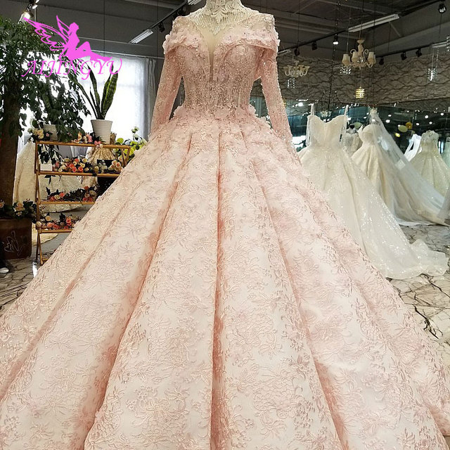 AIJINGYU חתונה אופנה נסיכת שמלות שתי חתיכה לבן בתוספת גודל סרבל מעצב רומנטי מלאך שמלת רומנטי חתונה שמלה
