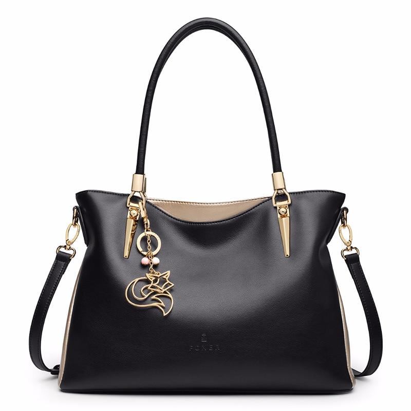 FOXER Брендовые женские сумки из воловьей кожи и сумки через плечо, женские модные сумки, женские сумки через плечо - 2