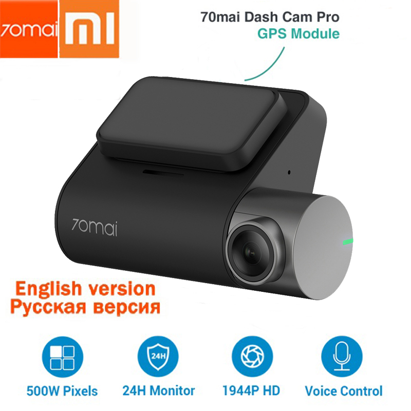 Xiaomi 70mai Dash Cam Pro 1944 P GPS ADAS 70 mai pro Cam Anglais contrôle vocal 24 H moniteur de stationnement 140FOV vision nocturne wifi
