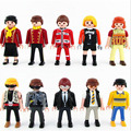 45 kinds 7cm Playmobil Police Pirate Princess figures toys for kid 2016 New Playmobil action minifigures model doll party decor
