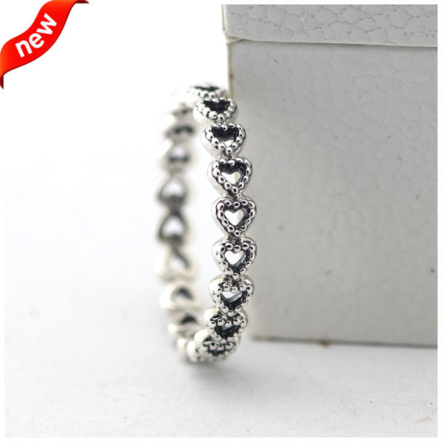 Compatible with European Jewelry Linked Love Silver Rings 100% 925 Sterling Silver Jewelry DIY Wholesale 08R075