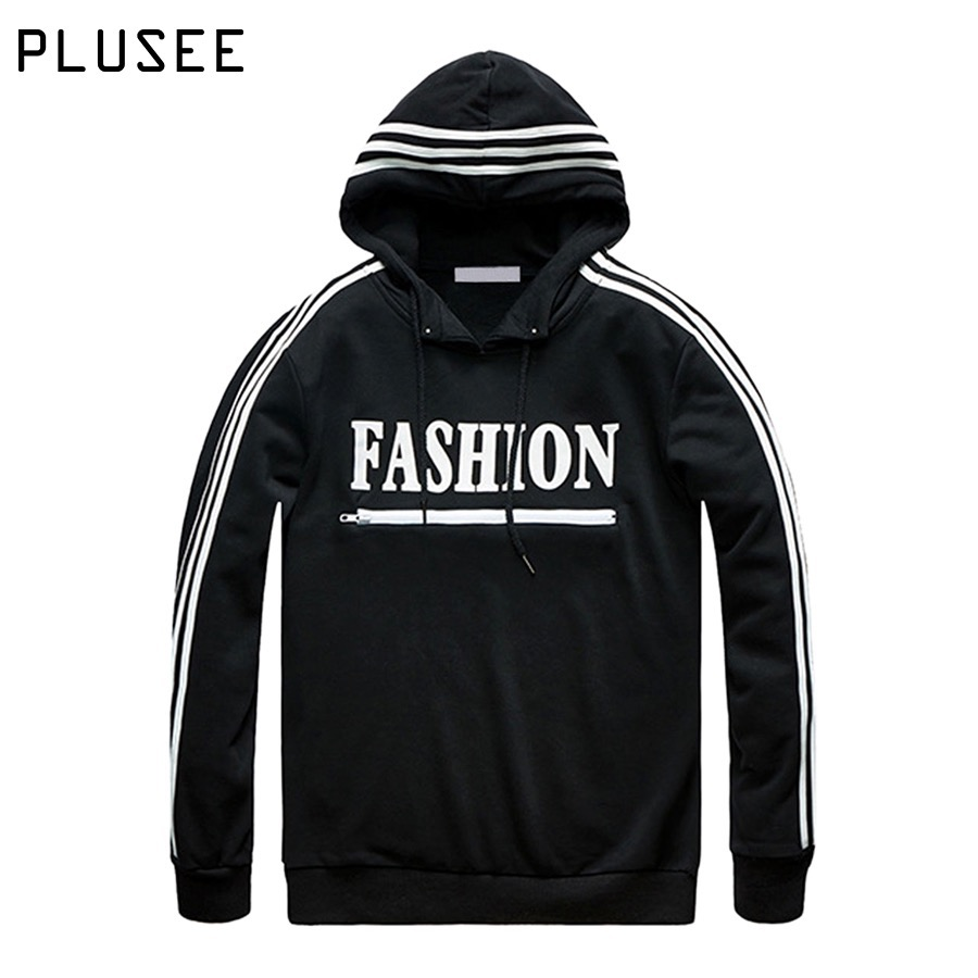 Black Pullover Hoodie For Men - Hardon Clothes