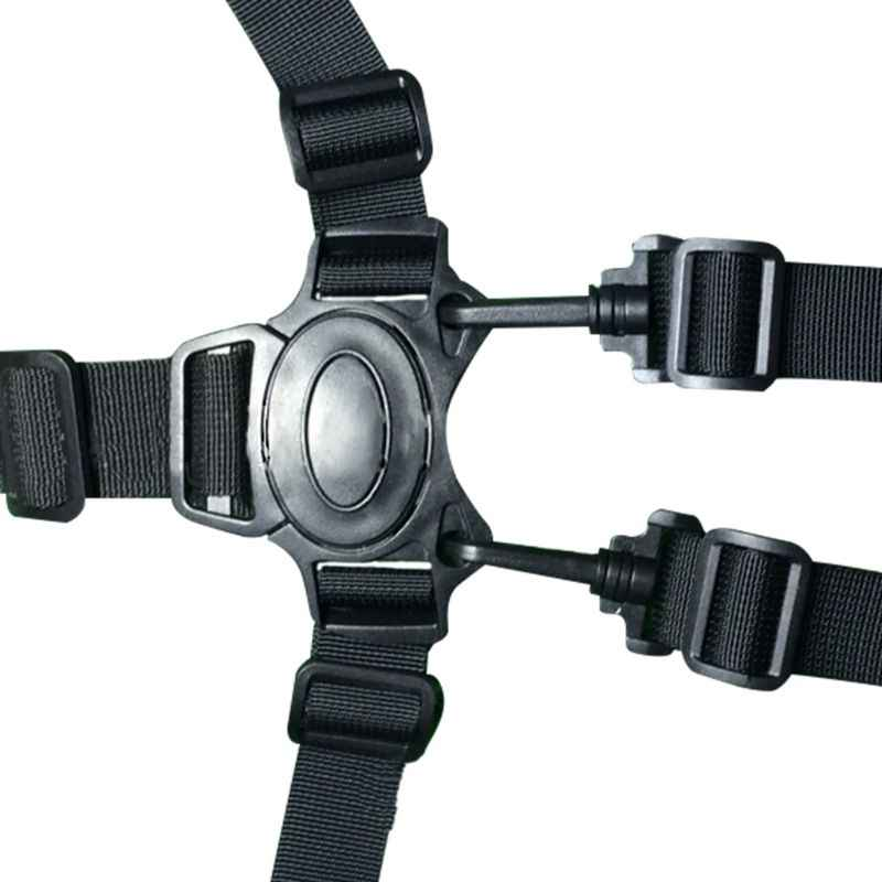 Для 5-ти точечные пряжка на пояс Клип крюк коляска безопасный жгут ремень с пряжкой черного цвета