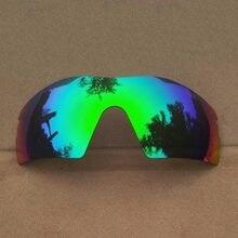 31fff0482f0c9 Verde espejo polarizado lentes de reemplazo para el Radar sol XL marco 100%  UVA y UVB Anti-scratch
