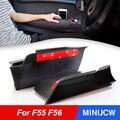 Ящик для хранения для внутренней двери автомобиля, подлокотник с ручкой, чехол для хранения Mini Cooper S JCW F55 F56, аксессуары для автостайлинга хэт...